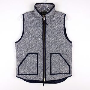 J. Crew | Patterned Zip Front Vest